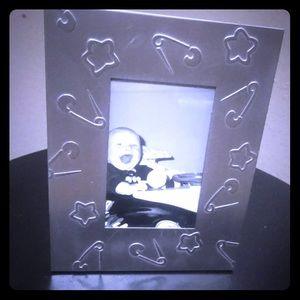 Other - Silver metal baby nursery star picture frame